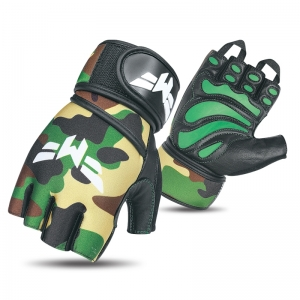 Weightlifting Green Camo Gloves