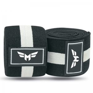 Weight Lifting Knee Wraps 1 Stripe-Normal