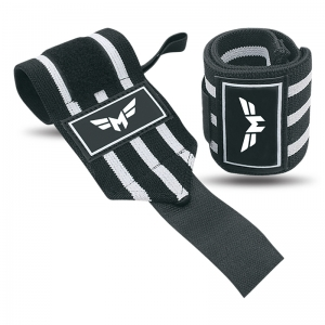 Weightlifting Wrist Wraps 3 Stripe-Normal