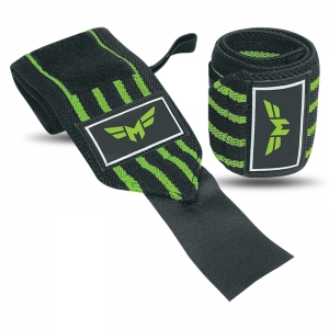 Weightlifting Wrist Wraps 3 Stripe-Super Heavy