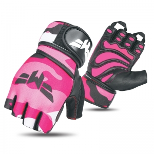 Weightlifting Pink Camo Gloves